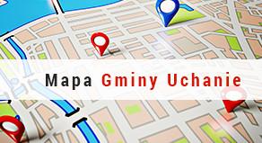 Mapa Gminy Uchanie