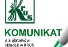 Czytaj więcej o: Informacja dla płatników składek w KRUS