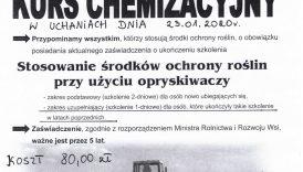 Czytaj więcej o: Kurs chemizacyjny dla rolników